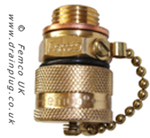 Small Standard Femco Drain Plug with a Chain